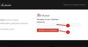 3. Saisissez votre adresse mail (celle transmise lors de votre inscription aux cours) et cliquez sur le bouton rouge
